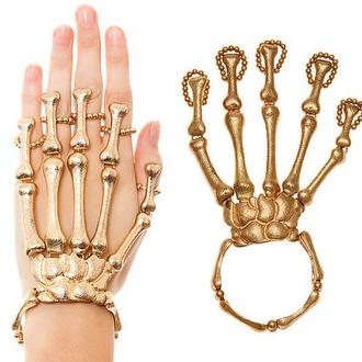 home accessory bones gold skeleton skeleton bones