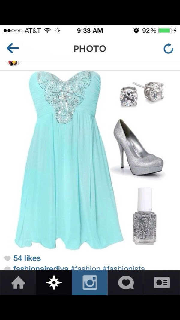 dress prom dress blue dress turquoise