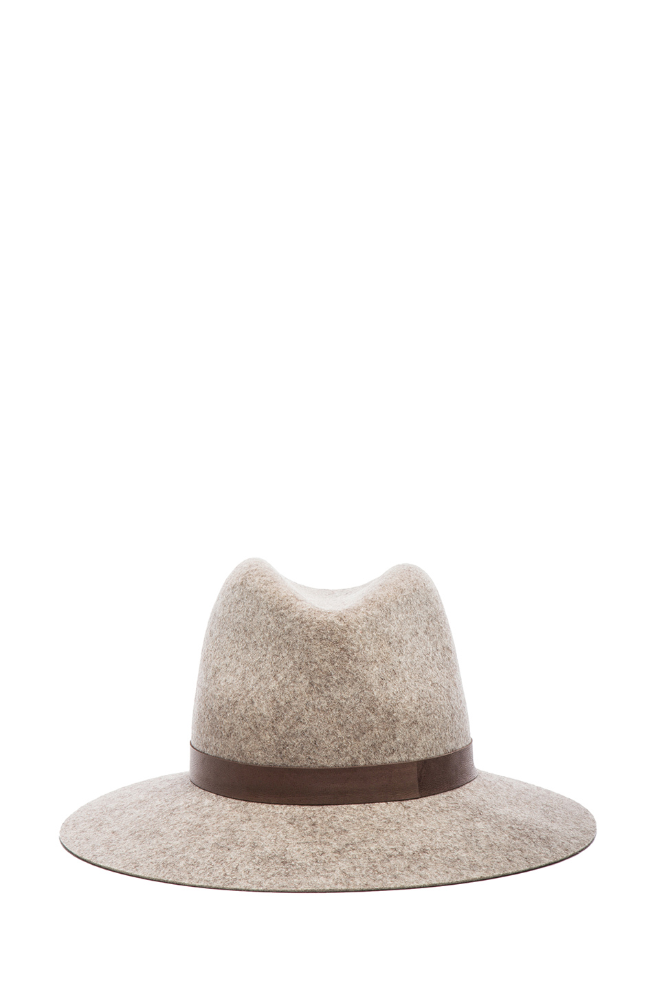 Janessa Leone|Julia Wool Felt Hat in Natural Blend