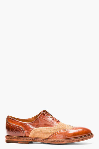 brogues leather shoes brown menswear casual shoes austerity burlap dennis
