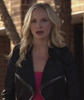 jacket,the vampire diaries,leather,candice accola,caroline forbes