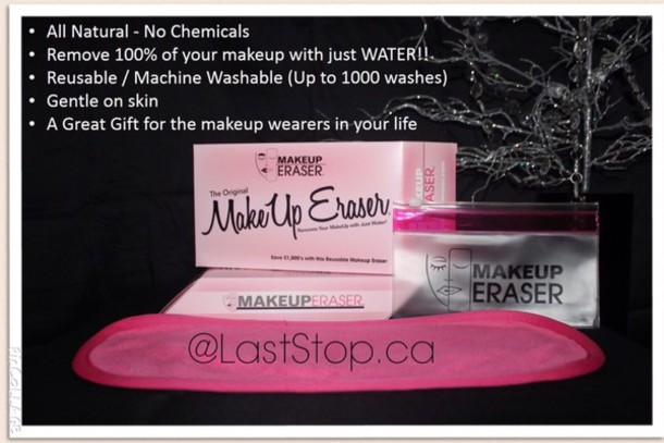 make-up make-up remover laststop chemical free natural makeup bag make up acessory laststop.ca accessories