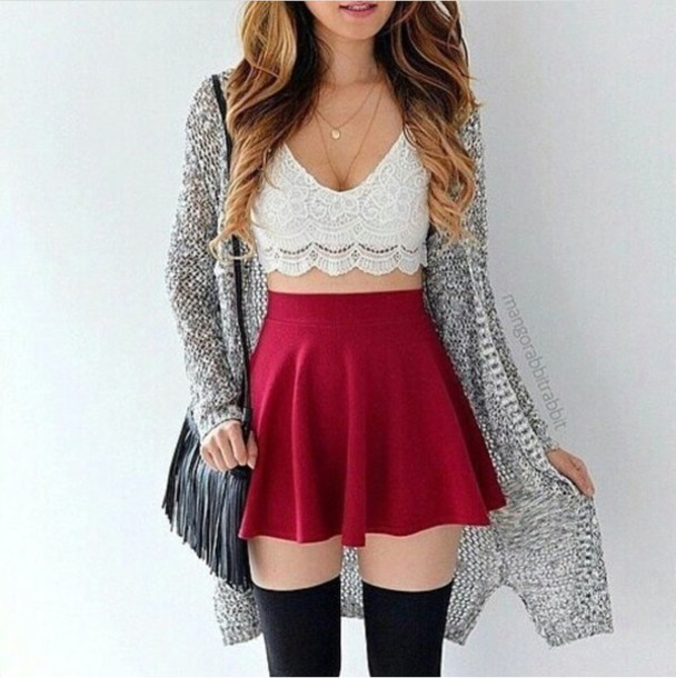 Skirt: outfit, outfit idea, summer outfits, fall outfits ...