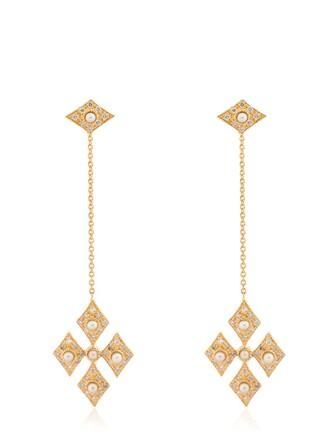 cross earrings pendant gold jewels