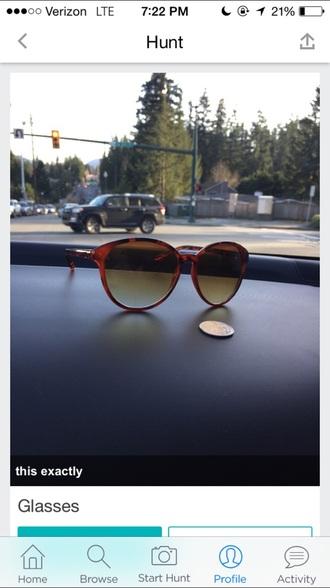 sunglasses cute round sun big brown