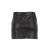 milly leather mini skirt in black shimmer   eve's apple