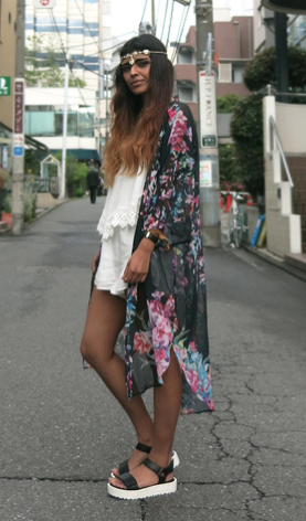 Butterflower long kimono