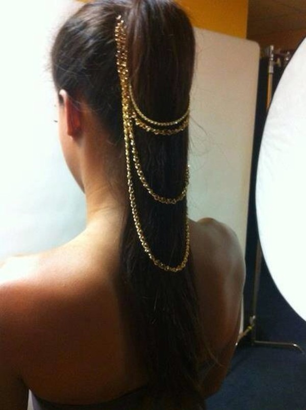 jewels ponytail jewelry necklace hair accessory