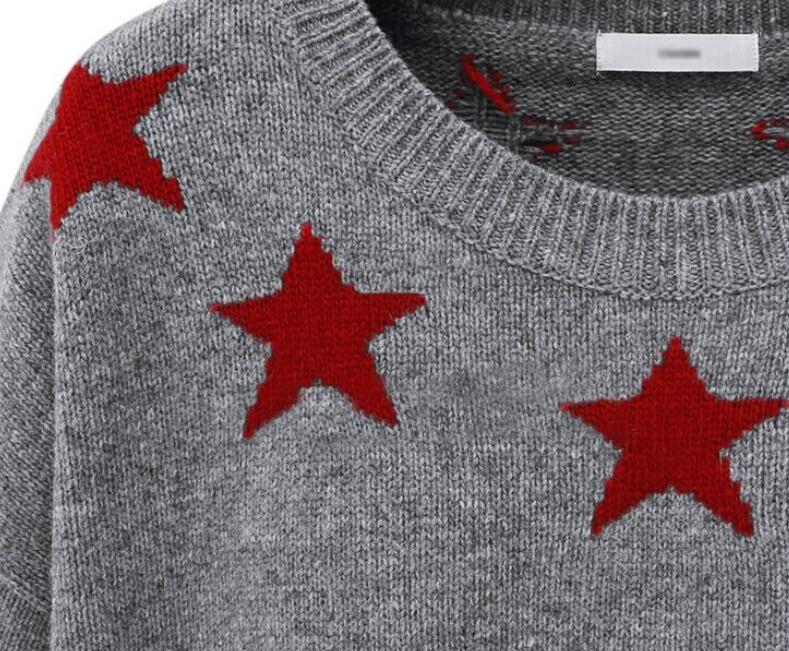 Jersey punto estrella manga larga-gris