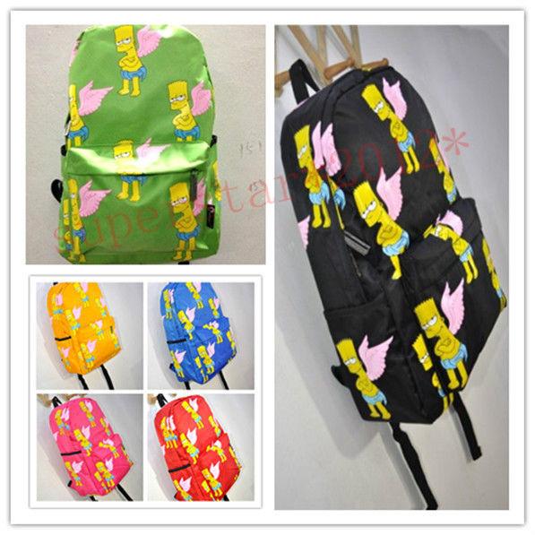 K-pop bigbang Simpson wing Backpack Shoulder Schoolbag harajuku fashion new