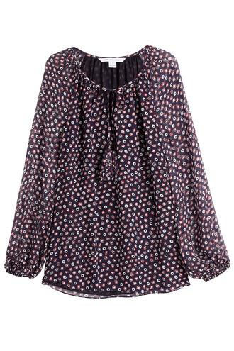 blouse tunic silk multicolor top