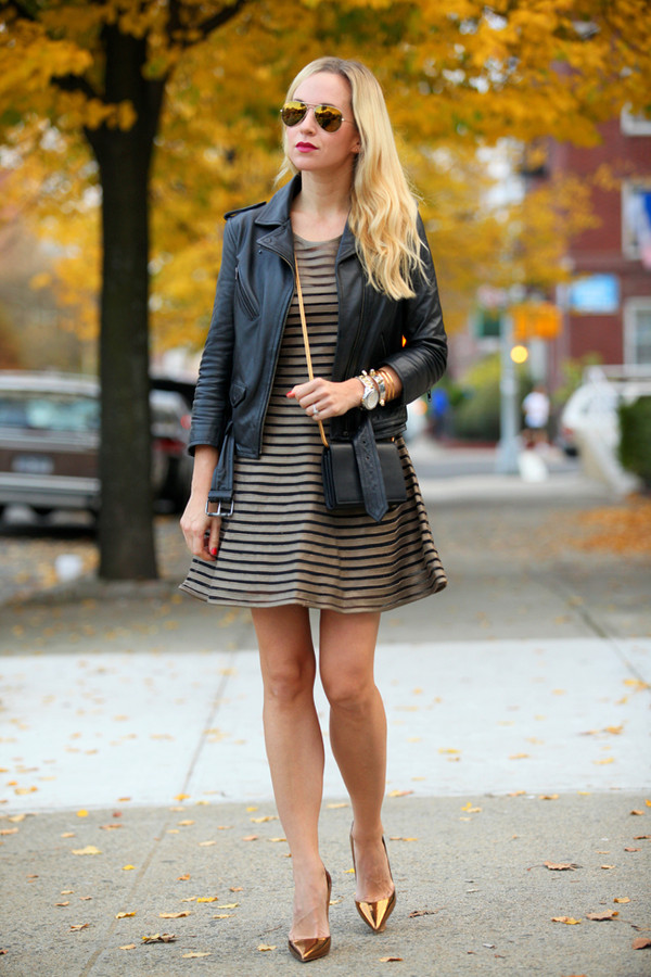 brooklyn blonde dress jacket shoes bag