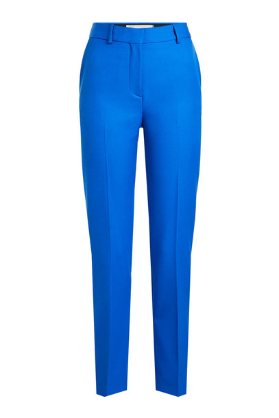 Victoria Victoria Beckham Straight Leg Wool Pants  in blue