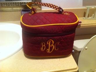 bag fsu florida state seminoles crimson monogram purse yellow