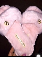 shoes,michael kors,pink,mk sandals,pink shoes,slippers,slide shoes