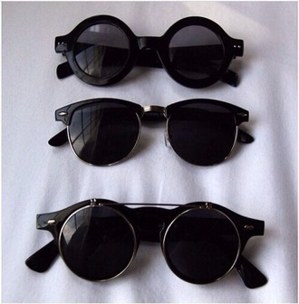 sunglasses black with gold detail rounded sunglasses
