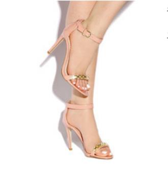 nude chains heels