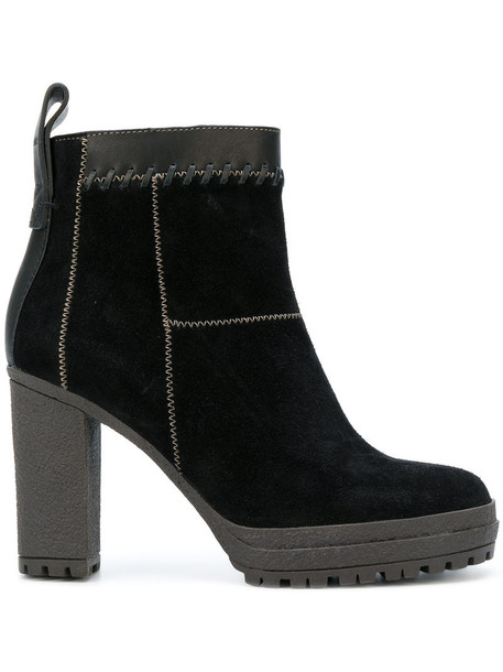 See by Chloe women ankle boots leather suede black shoes