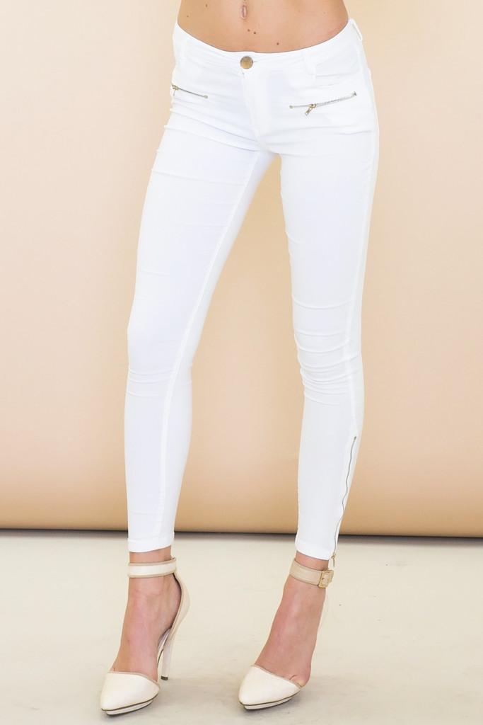 Ender zippered legging jean pant