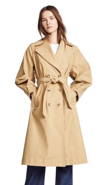 coat trench coat khaki