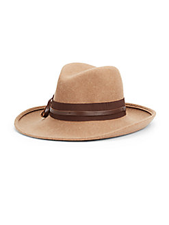 Oversized Wool Fedora - SaksOff5th
