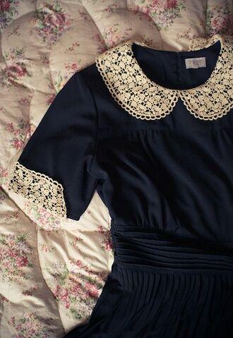 blue dress navy dress lace collar peter pan collar peter pan collar dress collared dress
