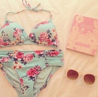 swimwear floral swimwear bikini floral bikini floral swimsuit cute bikini