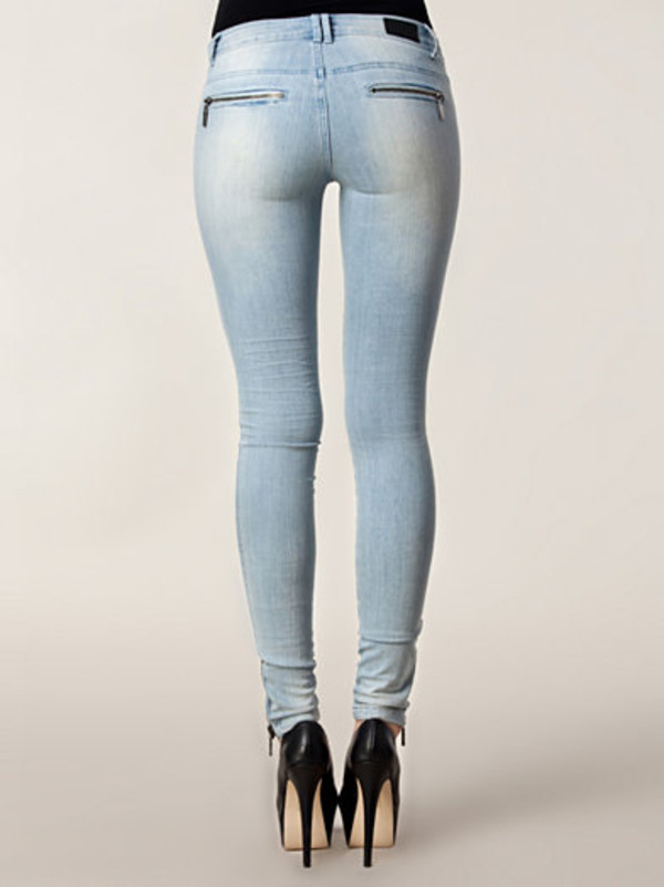ASOS | ASOS Ridley Ice Blue Super Soft Ultra Skinny Jeans with ...