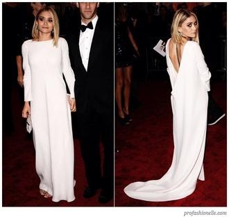 dress maxi dress white ashley olsen