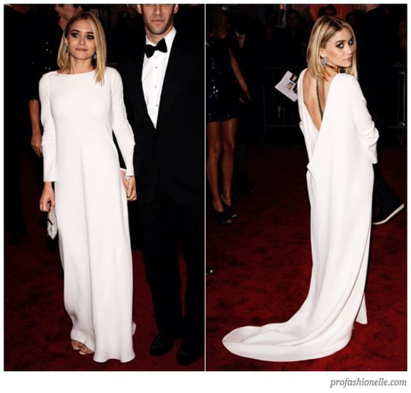 dress ashley olsen white maxi dress