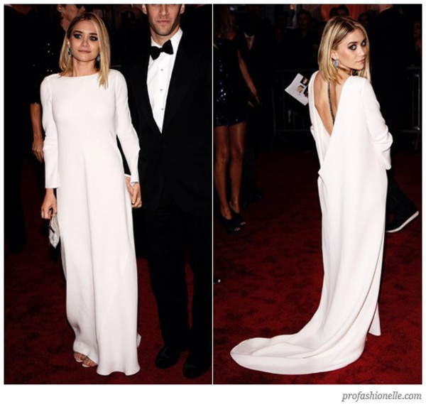 dress white maxi dress ashley olsen