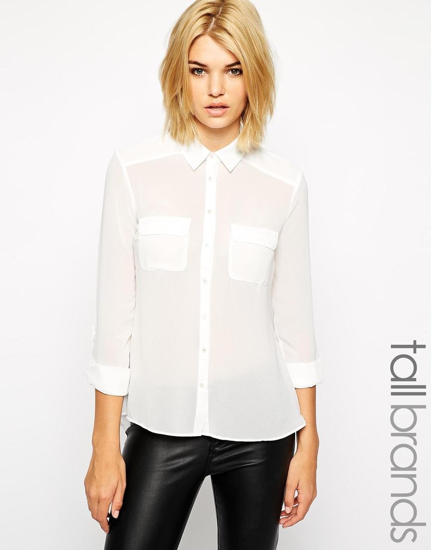 New look tall long sleeve blouse at asos.com