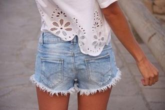 shirt floral white lace