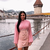 dress,pink dress,pink,missguided,gucci,guess,moschino,desinger,bandage dress,light pink