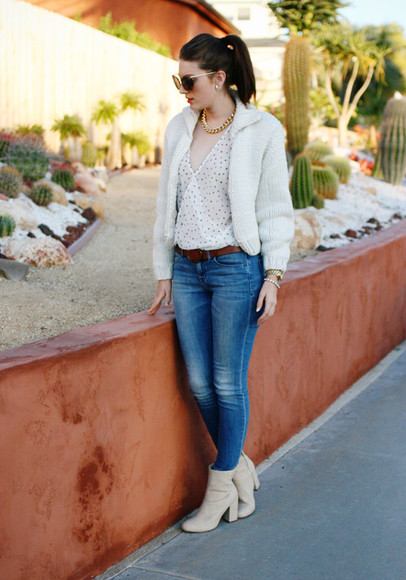 these days shoes blouse jeans jacket sunglasses