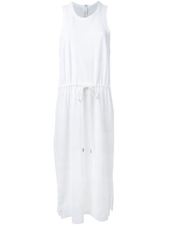 dress women drawstring white cotton