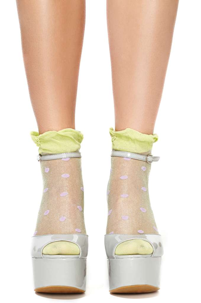 Hot Spot Ankle Socks at Nasty Gal