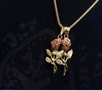 home accessory necklace gold necklace rose roses rose gold couples necklaces accessories