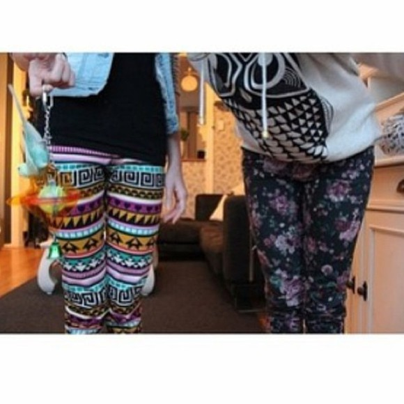 leggings tribal cute pants aztec floral jeggings jeans