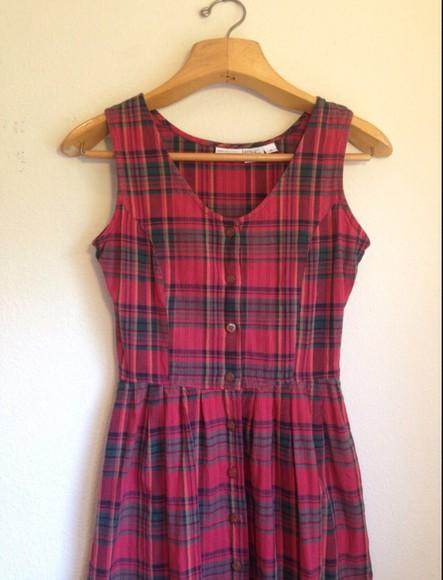 dress fitted dress fall dress school girl tartan