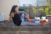 pants,stripes,black and white,leggings,posh'd boutique,streetstyle,beetlejuice