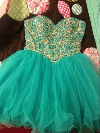 dress with that design turquoise aquamarine