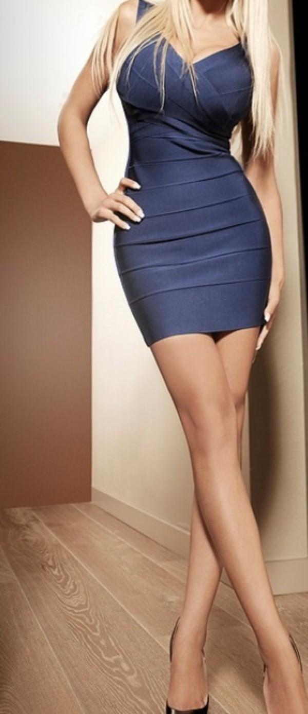 dress blue dress sexy dress