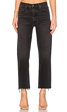 GRLFRND Helena High-Rise Straight Crop Jean in Proud Mary from Revolve.com