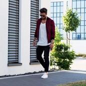 jacket,maniere de voir,suede,bomber jacket,luxury,deep,red,36683