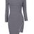 Enchanting Stripe Design Round Neck Long Sleeve Dress
