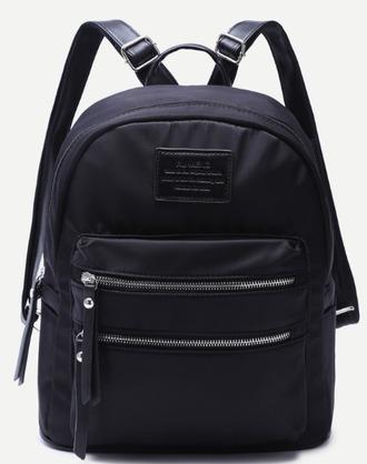 bag backpack zip black