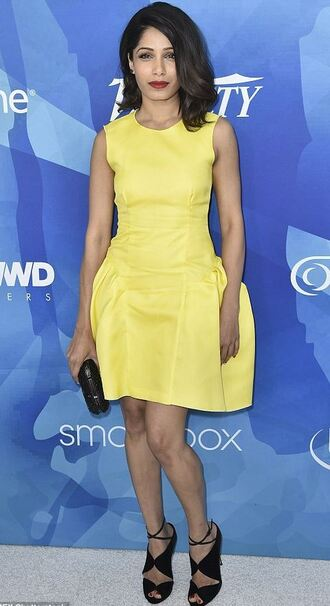 dress sandals yellow dress yellow freida pinto shoes