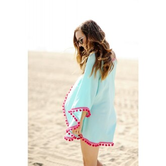 dress light blue women beach shawl tops blouse light blue women beach shawl top blouse pink pink side sky sky blue beach dress summer party sexy sexy dress lovely cute back to school cute dress