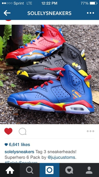 shoes batman superman